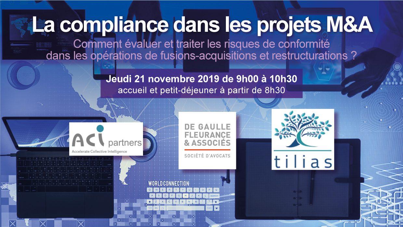 Petit-déjeuner conférence – La compliance dans les projets M&A