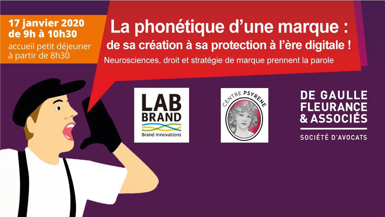 Petit-déjeuner conférence – La phonétique d'une marque : de sa création à sa protection avec Labbrand et le Centre Psyrene