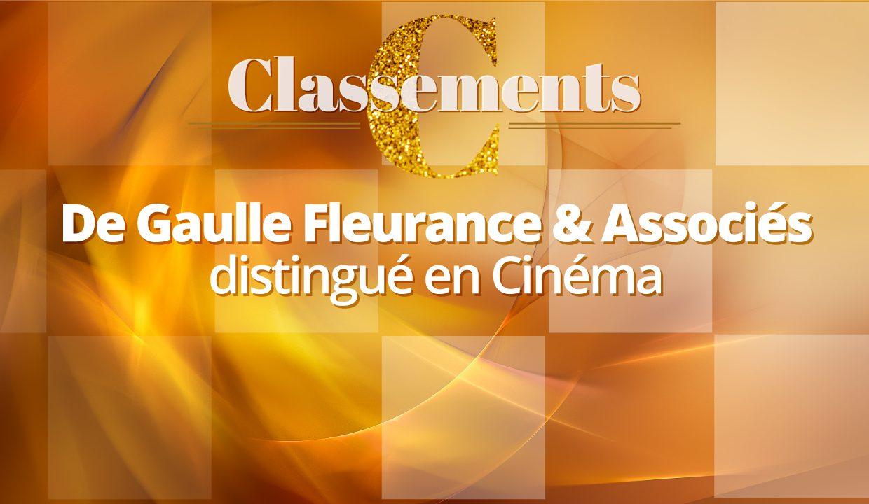 Legal 500 EMEA 2021 – De Gaulle Fleurance & Associés compte parmi les meilleurs cabinets d'avocats en Cinéma