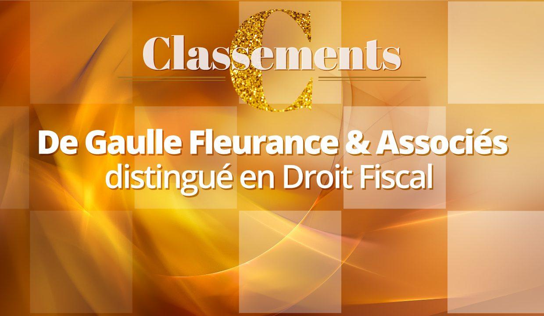 Legal 500 EMEA 2021 – De Gaulle Fleurance & Associés compte parmi les meilleurs cabinets d'avocats en Droit Fiscal